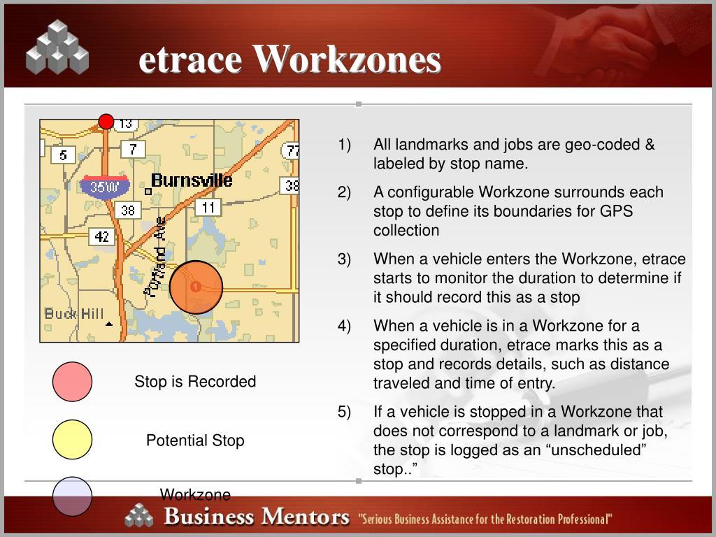 etrace Workzones