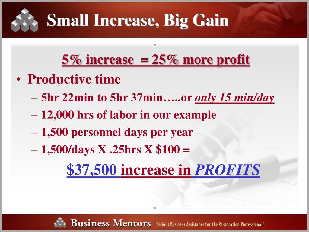 Small Increase, Big Gain