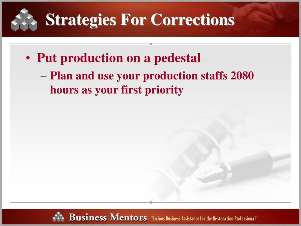 Strategies For Corrections
