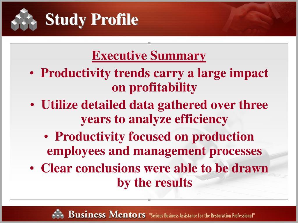Study Profile