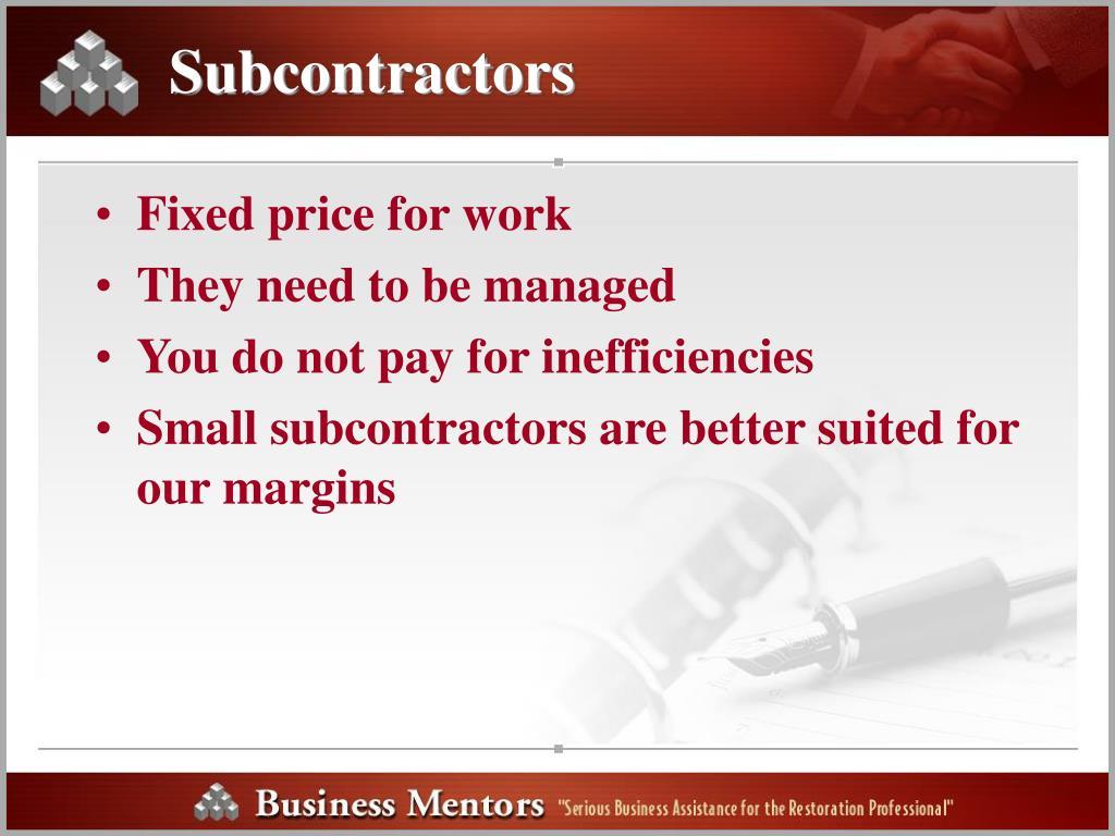 Subcontractors