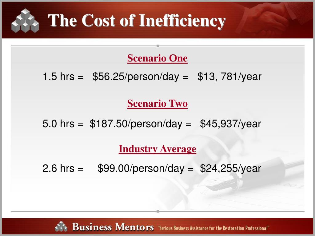 The Cost of Inefficiency