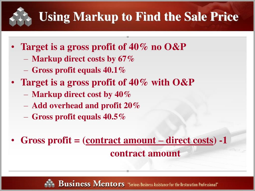 Using Markup to Find the Sale Price