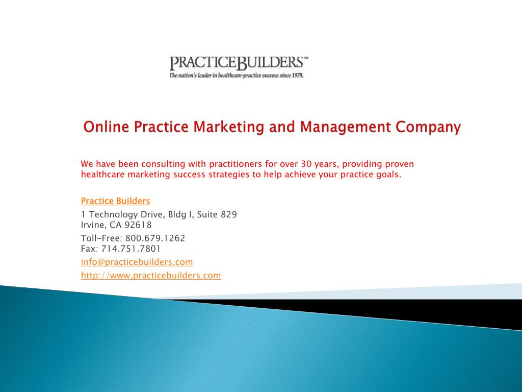 Online Practice Marketing and Management Company