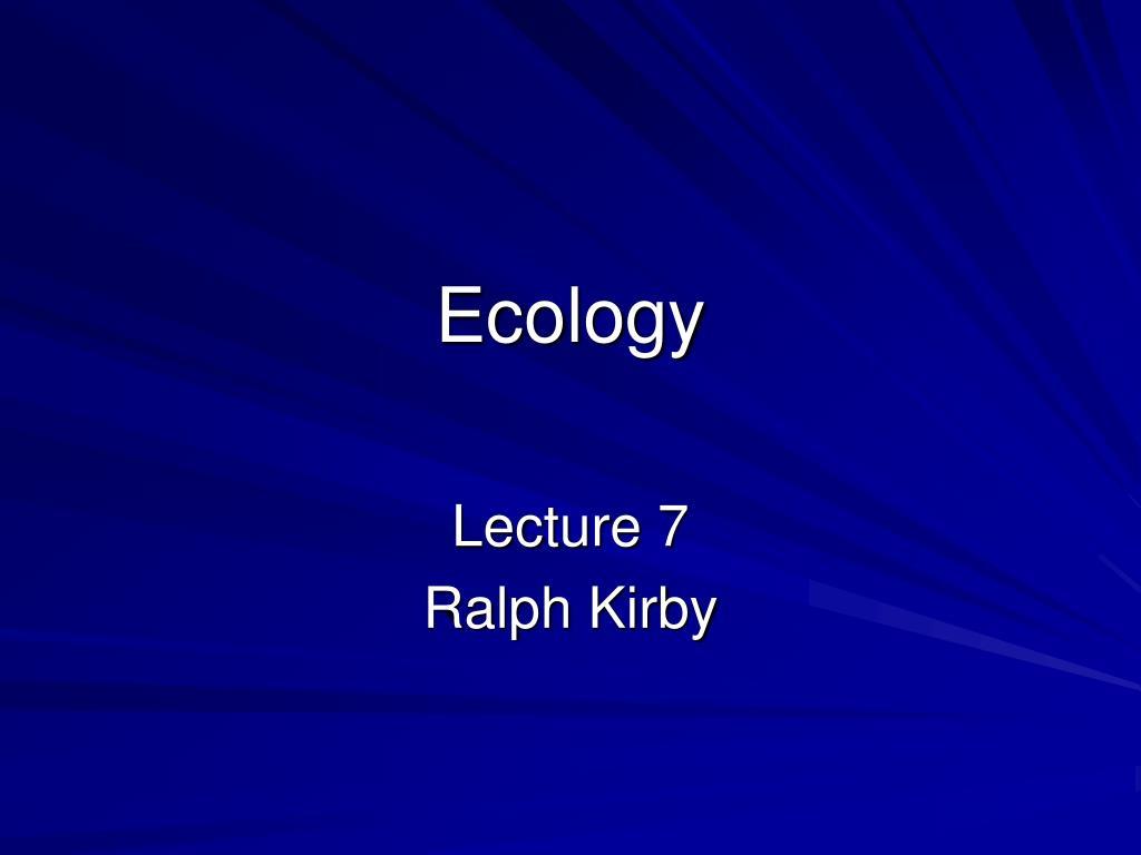 ecology l.