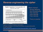 reverse engineering the cipher8