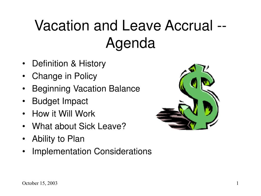 vacation and leave accrual agenda l.