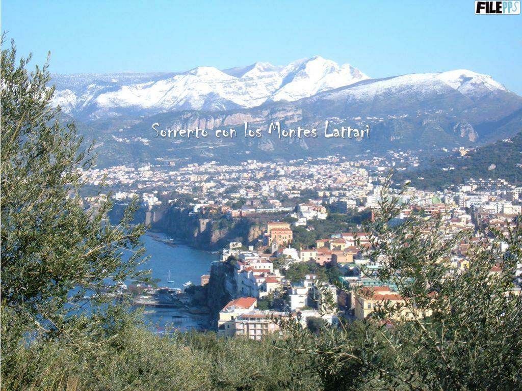 Sorrento con los Montes Lattari