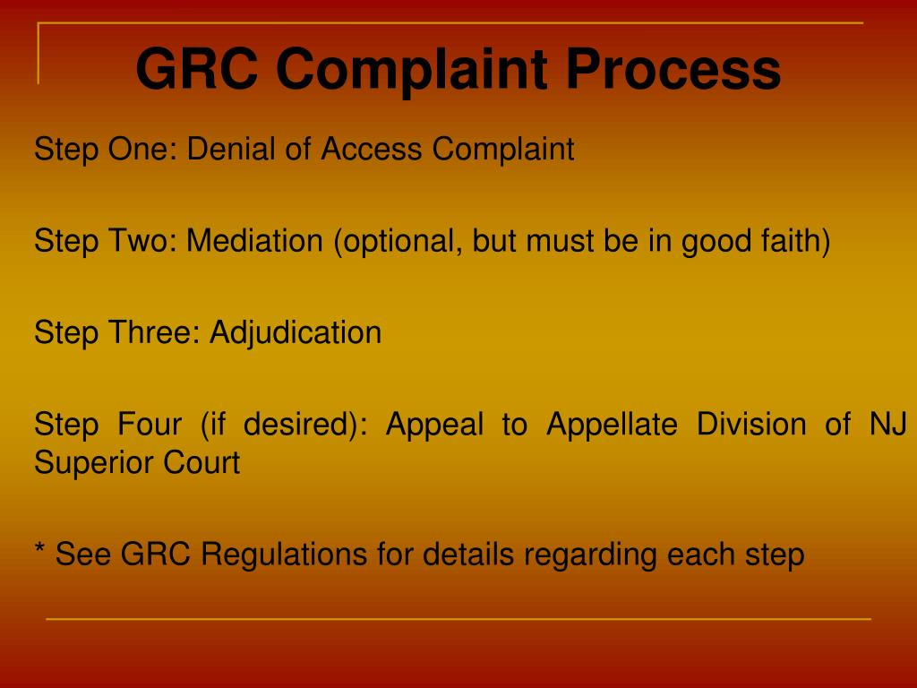 GRC Complaint Process