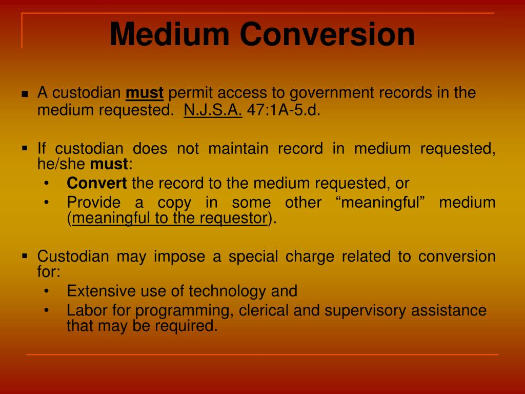 Medium Conversion