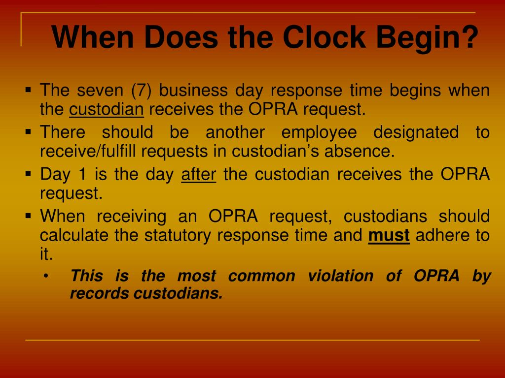 When Does the Clock Begin?