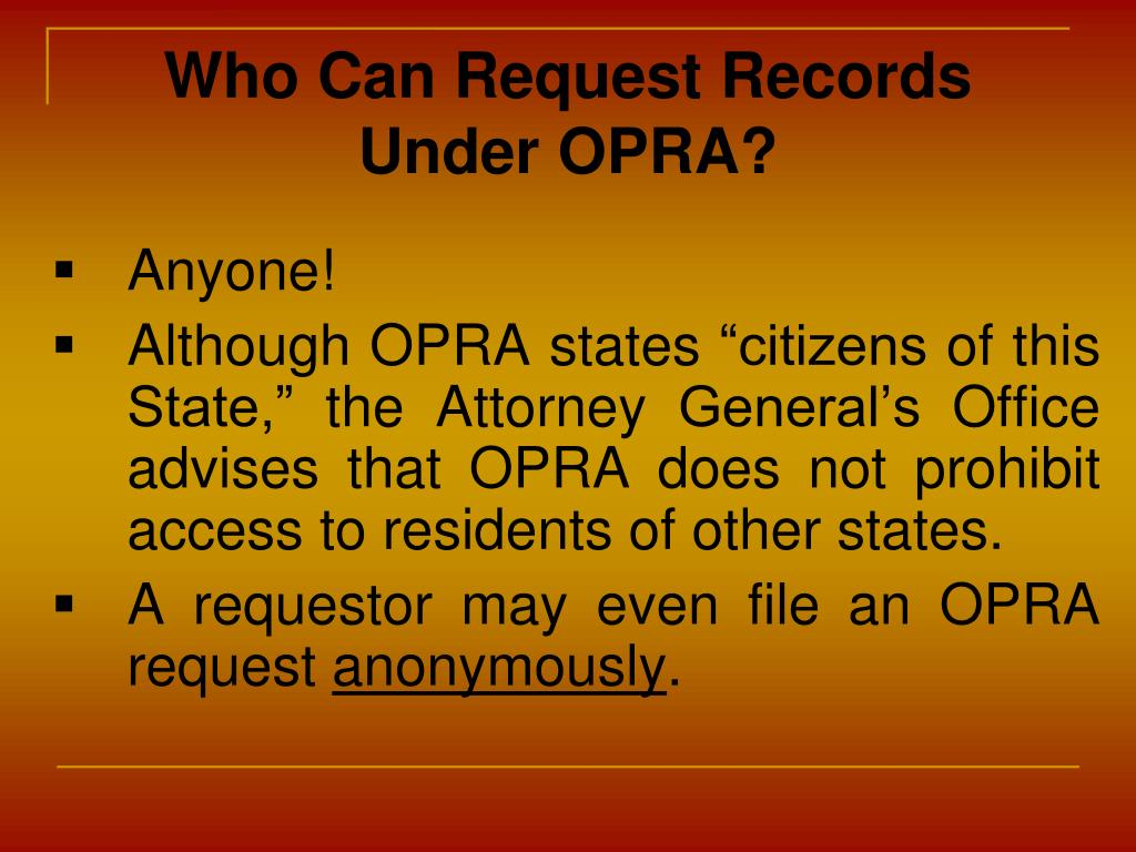 Who Can Request Records