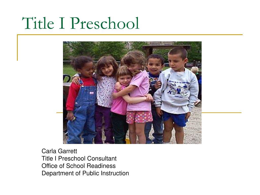 title i preschool l.