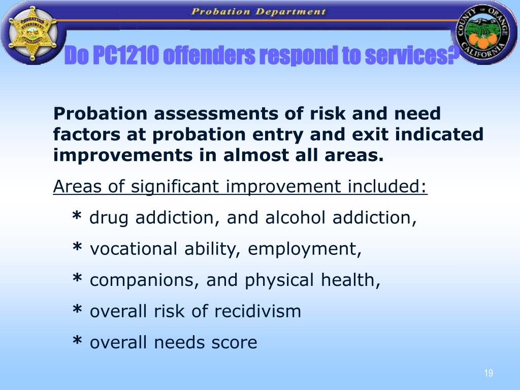 Do PC1210 offenders respond to services?