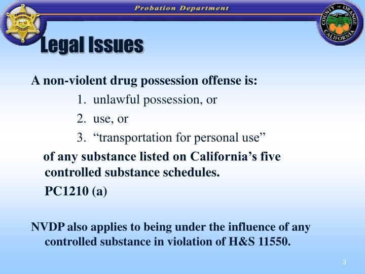 Legal issues3