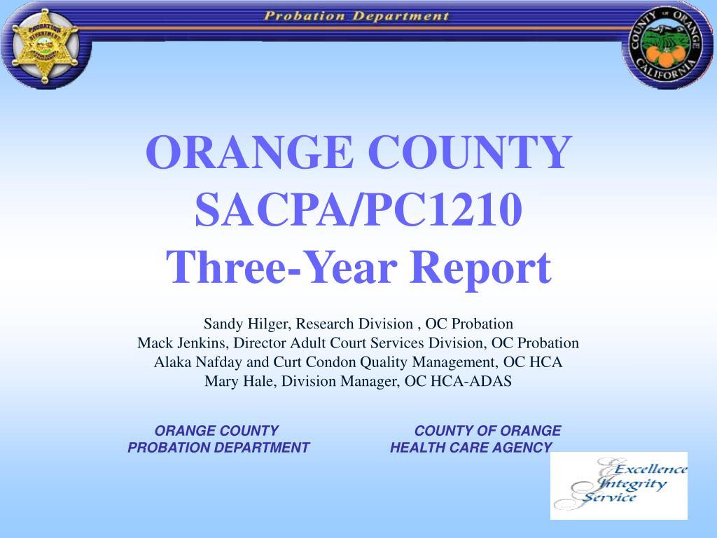 ORANGE COUNTY SACPA/PC1210