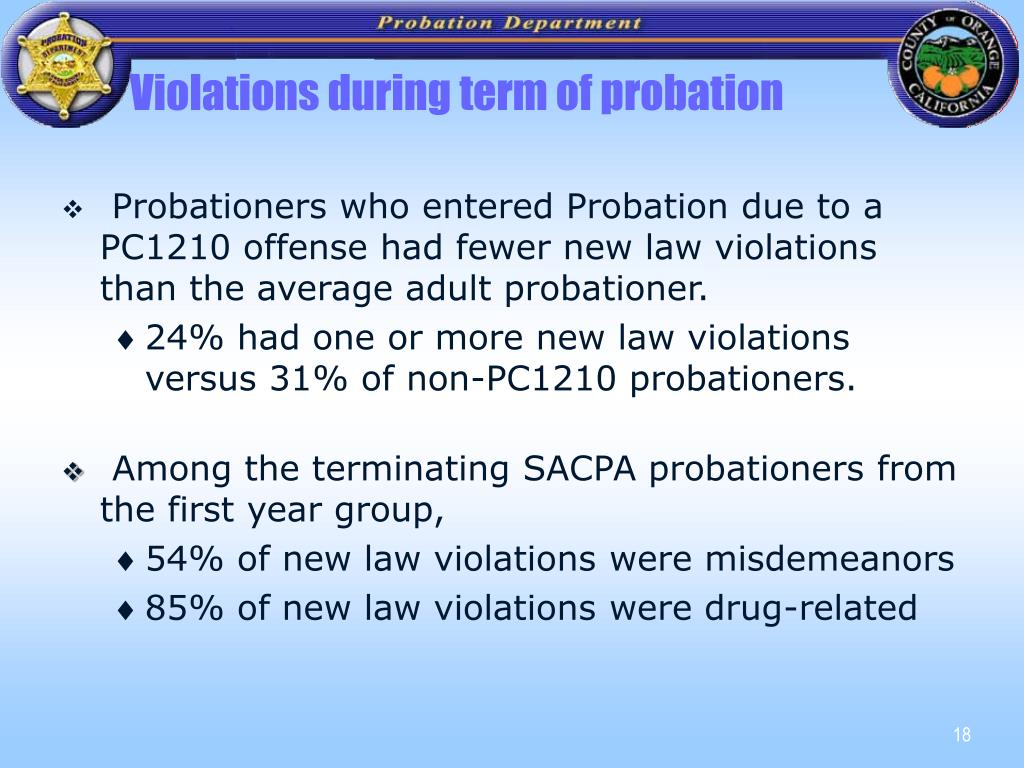 Violations during term of probation