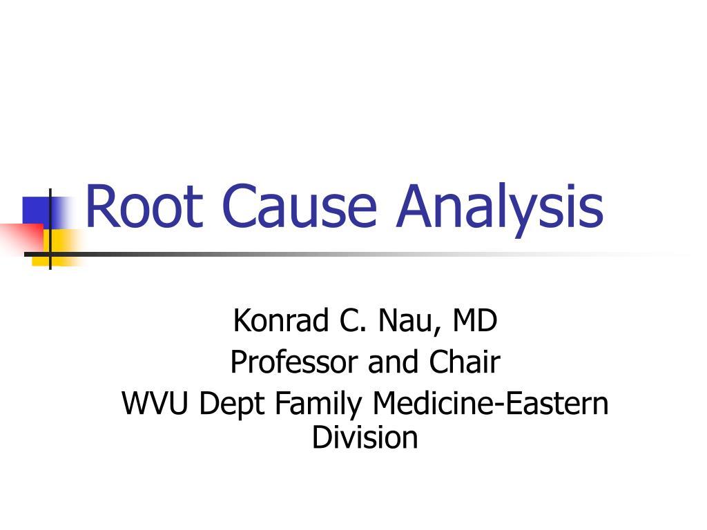 root cause analysis l.