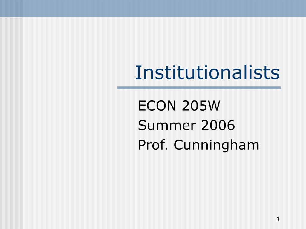 institutionalists l.