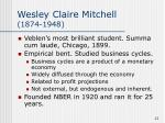 wesley claire mitchell 1874 1948