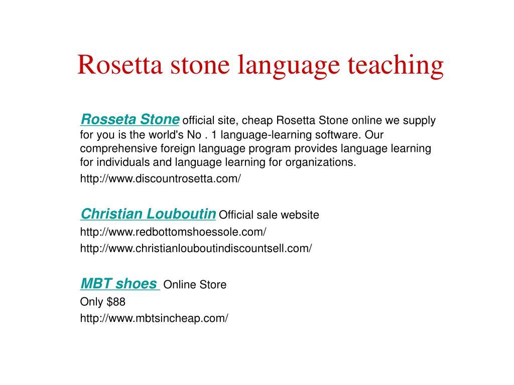 rosetta stone language teaching