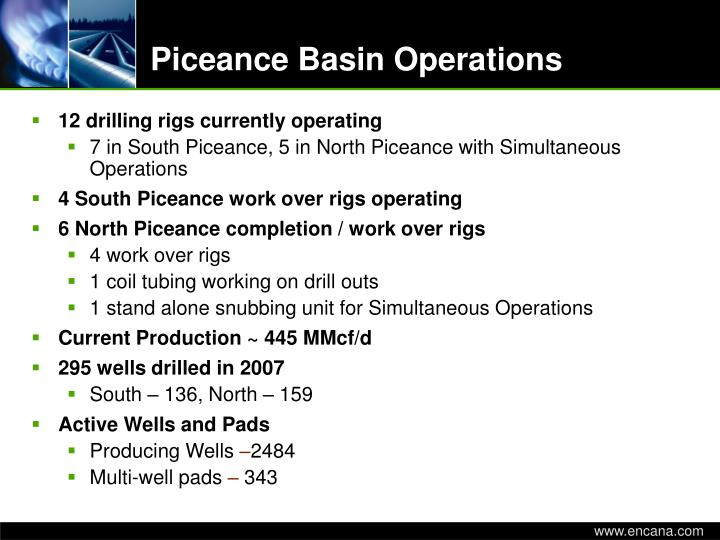 Piceance basin operations