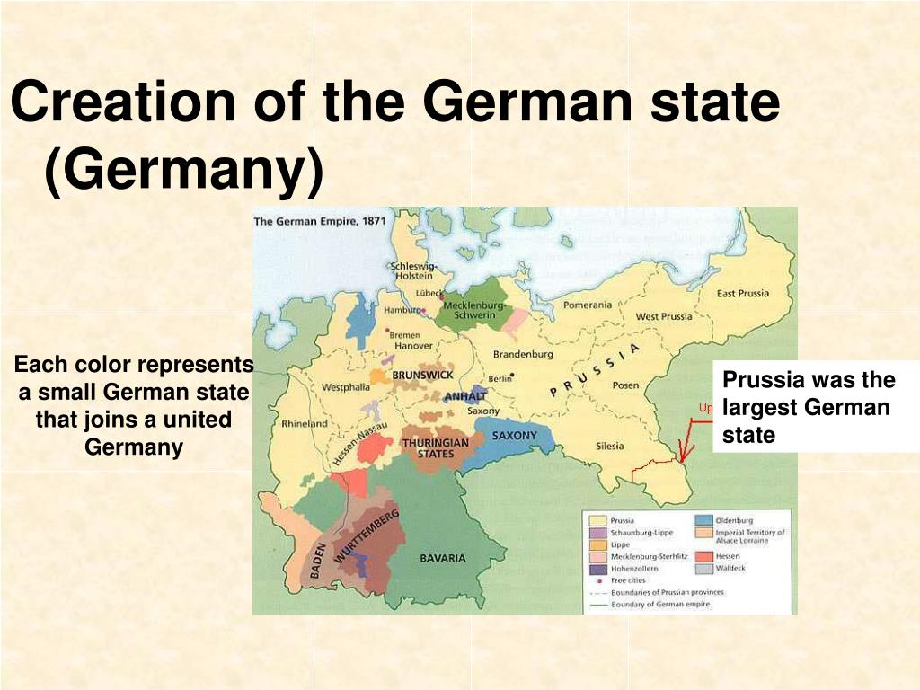 Creation of the German state (Germany)