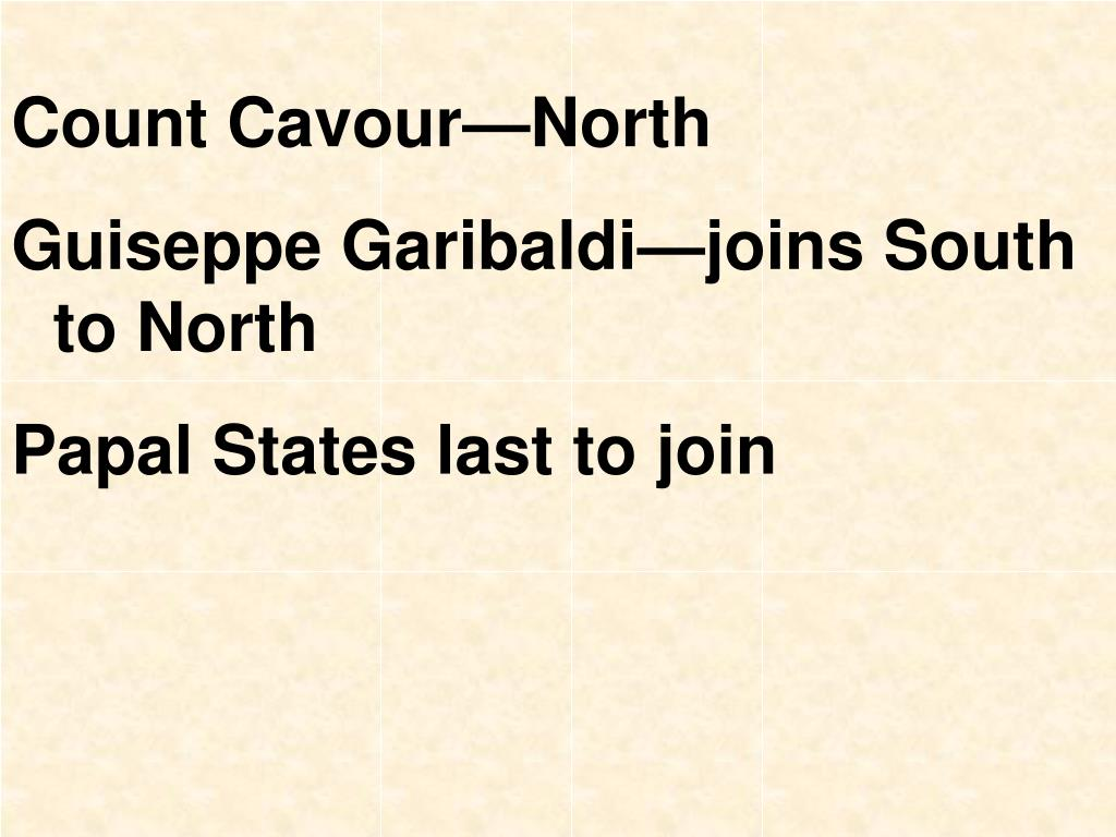 Count Cavour—North