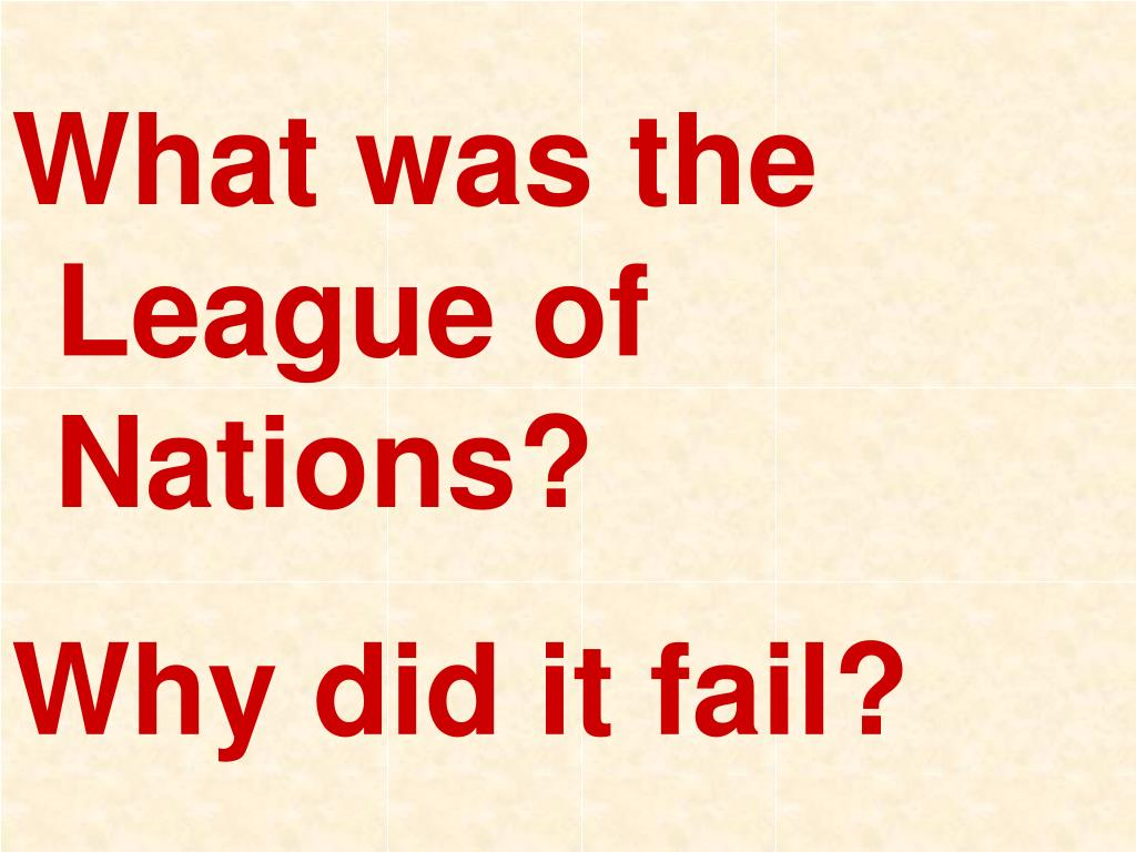 What was the League of Nations?