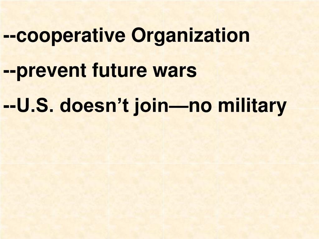 --cooperative Organization