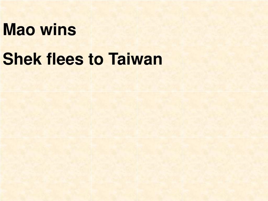 Mao wins
