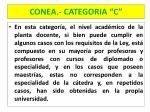 conea categoria c