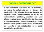conea categoria c8
