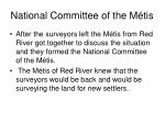 national committee of the m tis