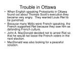 trouble in ottawa