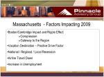 massachusetts factors impacting 2009