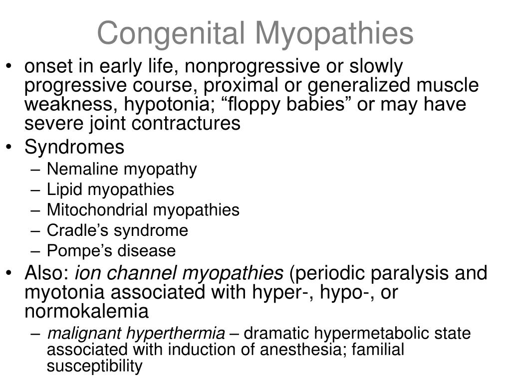 Congenital Myopathies