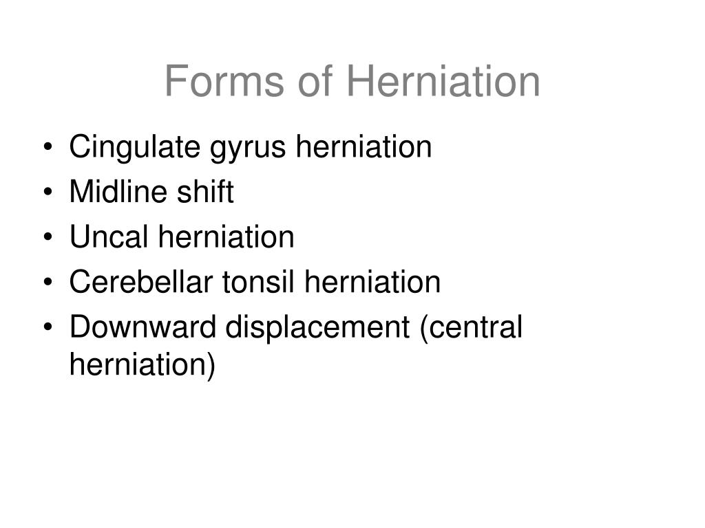 Forms of Herniation