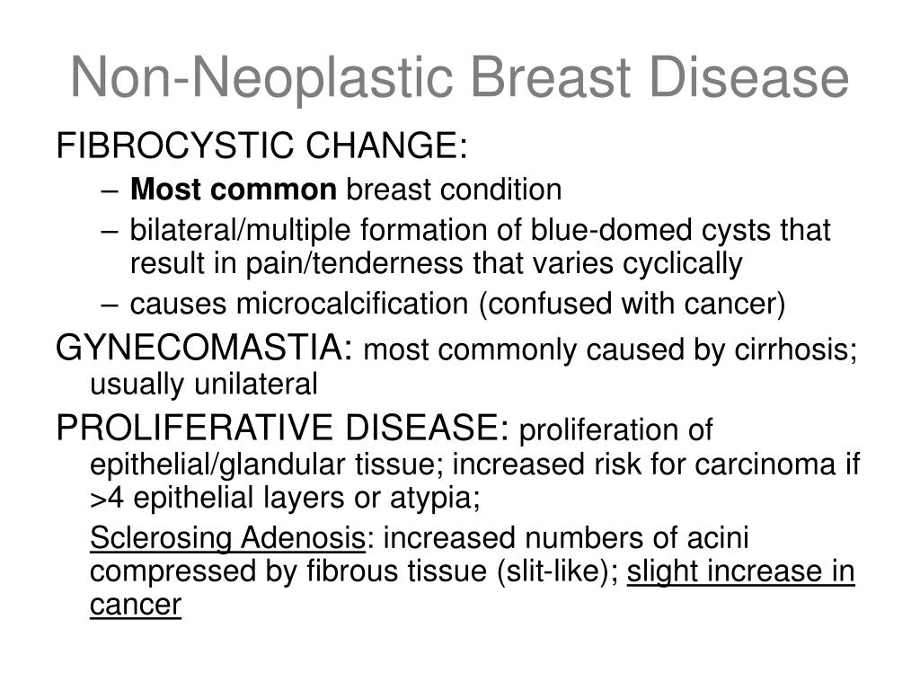 Non-Neoplastic Breast Disease