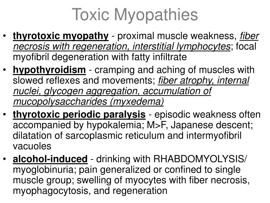 Toxic Myopathies