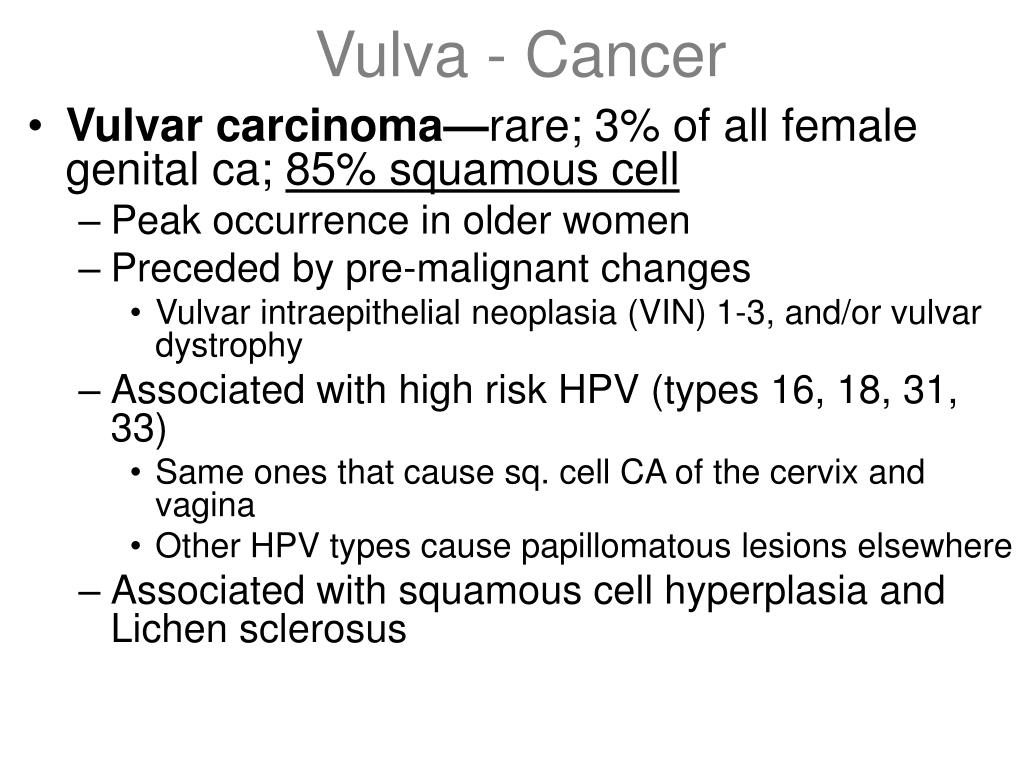 Vulva - Cancer