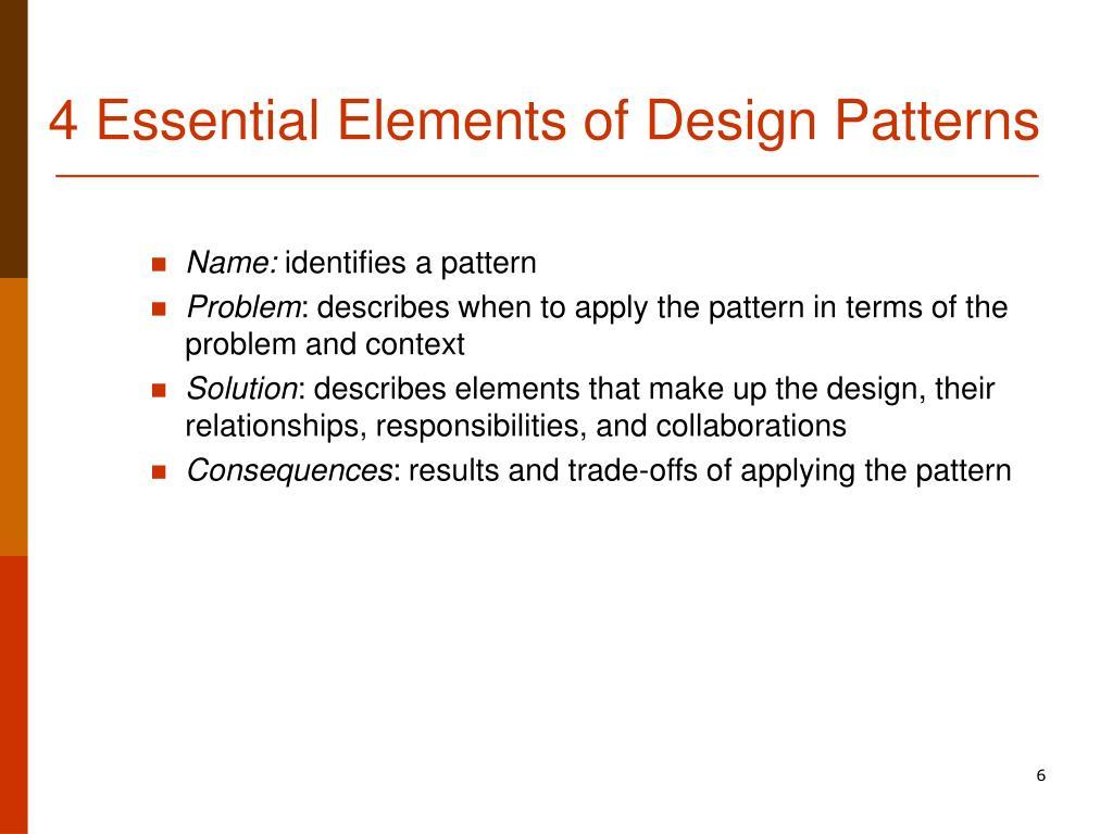 4 Essential Elements of Design Patterns