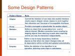 some design patterns