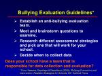 bullying evaluation guidelines