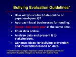 bullying evaluation guidelines45