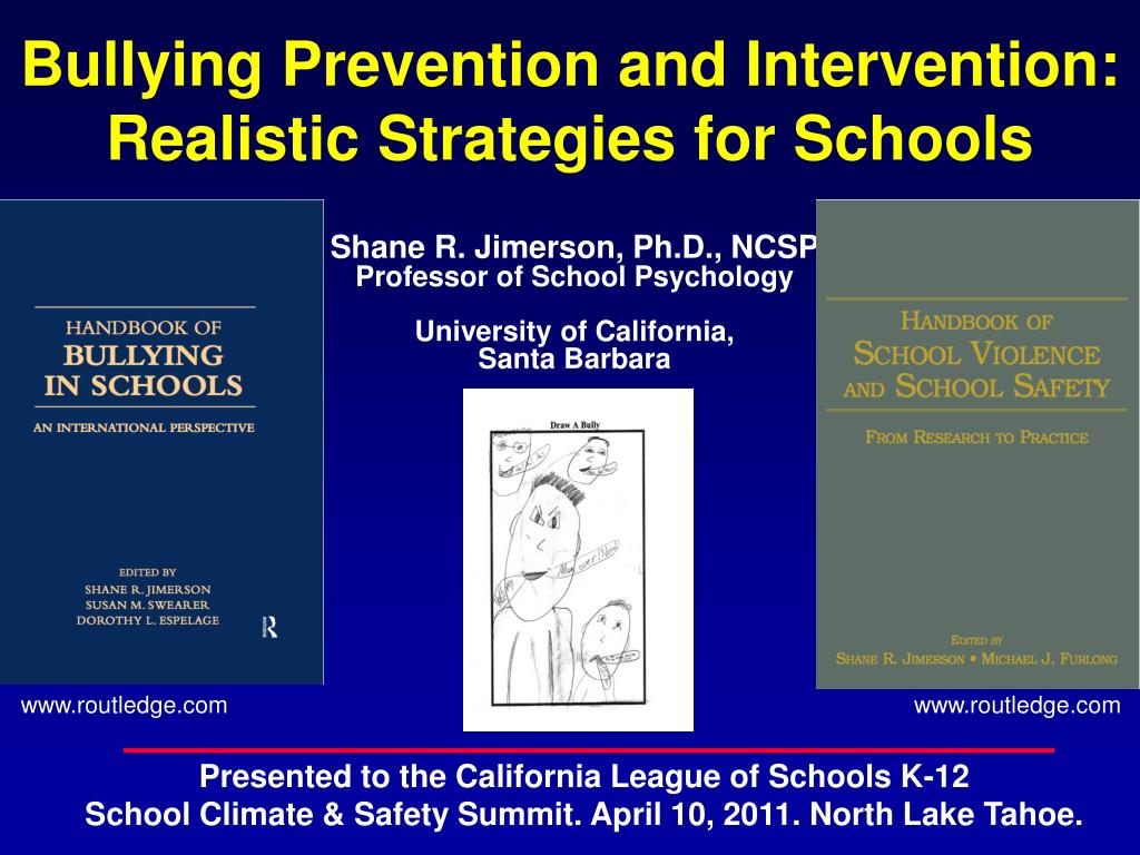 bullying prevention and intervention realistic strategies for schools l.