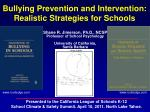 bullying prevention and intervention realistic strategies for schools55