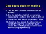 data based decision making24