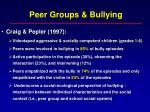 peer groups bullying