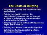 the costs of bullying
